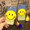 (483-007)เคสมือถือไอโฟน case iphone 6Plus/6S Plus เคสพลาสติกขอบนิ่มอมยิ้ม 3D
