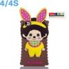 (พร้อมส่ง)เคสมือถือไอโฟน 4/4s Case iPhone เคสนิ่ม Monchhichi กระต่าย