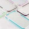 (436-151)เคสมือถือไอโฟน Case iPhone 7 เคสนิ่มใสขอบสีสไตล์คลาสสิค