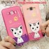 (391-044)เคสมือถือซัมซุง Case Samsung A8 เคสนิ่มฝาหลังลายแมวน่ารักๆ DOMI CAT