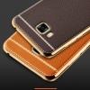 (025-344)เคสมือถือซัมซุง Case Samsung C9 Pro เคสนิ่มขอบชุบแววพื้นหลังลายหนัง