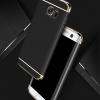 (025-489)เคสมือถือซัมซุง Case Samsung S6 Edge เคสพลาสติกขอบทองแฟชั่น