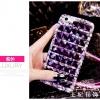 (497-011)เคสมือถือ Case OPPO R9s Plus เคสพลาสติกใสพื้นหลังประดับเพชรไล่โทนสี