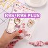 (025-495)เคสมือถือ Case OPPO R9s Plus เคสนิ่มการ์ตูนน่ารักๆ ประดับแหวนโลหะติดเพชร
