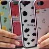 (440-080)เคสมือถือไอโฟน Case iPhone5C เคสนิ่ม+ขอบพลาสติกอ่อน+เชือกประกบลายการ์ตูนน่ารักๆ