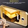 (025-073)เคสมือถือซัมซุง Case Samsung A7 (2016) เคสกรอบโลหะพื้นหลังอะคริลิคแวววับคล้ายกระจกสวยหรู