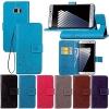 (484-006)เคสมือถือซัมซุง Case Samsung Galaxy Note7 เคสนิ่มสไตล์สมุดเปิดข้างลายดอกไม้วินเทจ