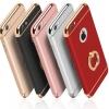 (436-175)เคสมือถือไอโฟน Case iPhone 7 เคสพลาสติกขอบทองแววติดแหวนโลหะ