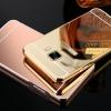 (025-244)เคสมือถือซัมซุง Case Samsung C9 Pro เคสโลหะพื้นหลังพลาสติกอะคริลิคแววคล้ายกระจก