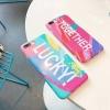 (483-040)เคสมือถือไอโฟน Case iPhone 7 เคสนิ่ม Lucky Together