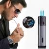 (500-002)ไฟแช็คสองหัวคลาสสิกเปลวไฟสีฟ้า