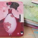 (034-010)เคสมือถือซัมซุง Case Samsung Galaxy Tab 3 10.1 นิ้ว เคสนิ่มฝาพับ PU ลายผู้หญิงน่ารักๆ