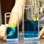 (291-005)เคสมือถือไอโฟน case iphone 5/5s/SE เคสน้ำพลาสติกใส Lovely Duck