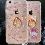 (025-438)เคสมือถือไอโฟน Case iPhone 6Plus/6S Plus เคสอะคริลิคใสลายน่ารักๆ