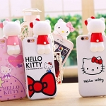 (462-016)เคสมือถือไอโฟน case iphone 5/5s/SE เคสนิ่ม Kitty 3D