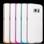 (436-063)เคสมือถือซัมซุง Case Samsung S6 เคสนิ่มใสบางขอบชุบแวว