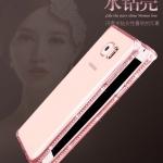 (436-017)เคสมือถือซัมซุง Case Note5 เคสนิ่มใสซิลิกาเจลขอบประดับเพชร