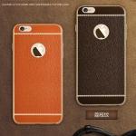 (025-314)เคสมือถือไอโฟน Case iPhone 6Plus/6S Plus เคสนิ่มขอบชุบแววพื้นหลังลายหนัง