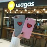 (466-007)เคสมือถือไอโฟน Case iPhone 6/6S เคสพลาสติกผ้าสักหลาดลายหัวใจ