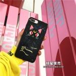 (513-071)เคสมือถือไอโฟน Case iPhone 6Plus/6S Plus เคสนิ่มลายแมว Luna เซเลอร์มูน
