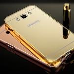 (025-192)เคสมือถือซัมซุง Case Samsung Galaxy J7(2016) เคสกรอบโลหะพื้นหลังอะคริลิคเงาแวว