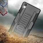 (002-097)เคสมือถือโซนี่ Case Sony Xperia M4 Aqua/Dual เคสนิ่มพื้นหลังพลาสติกแข็งกันกระแทกสุดฮิตเหน็บเอวได้