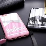 (468-001)เคสมือถือไอโฟน case iphone 5/5s/SE เคสนิ่มพื้นหลังแววลายซองบุหรี่ marlboro