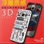 (547-006)เคสมือถือซัมซุง Case Samsung S7 เคสนิ่มลายเส้นการ์ตูนยอดฮิต 3D