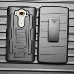 (002-129)เคสมือถือ Case LG V10 เคสนิ่ม+พื้นหลังประกบแบบพลาสติก+มีขาตั้ง+ที่เหน็บเอวสไตล์กันกระแทก