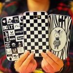 (348-009)เคสมือถือ Samsung Galaxy Note2 เคสสองชิ้นพื้นหลังลายน่ารักๆ