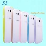 (423-005)เคสมือถือซัมซุง Samsung Galaxy S3 เคสบัมเปอร์ทูโทนประกบสองชิ้น