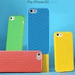 (121-002)เคสมือถือไอโฟน Case iPhone5C เคสนิ่มลายรังผึ้ง