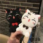 (513-015)เคสมือถือไอโฟน Case iPhone 6/6S เคสนิ่มตัวการ์ตูนแมวน่ารักๆ 3D Lucky Cat