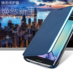(390-009)เคสมือถือซัมซุง Case Samsung S6 เคสพลาสติกฝาพับแววกึ่งโปร่งใสสวยๆสุดหรู CLEAR VIEW