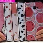 (440-036)เคสมือถือซัมซุง Case Samsung A9 Pro เคสนิ่มขอบสีพื้นหลังลายสวยๆน่ารักๆ