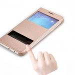 (023-010)เคสมือถือซัมซุง Case Samsung A8 เคสฝาพับโชว์สองหน้าจอแบบสวมตัวเครื่อง
