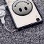 (406-043)เคสมือถือ Case OPPO R7s เคสนิ่มพื้นหลังพลาสติกใสลายอมยิ้ม thumbnail 4