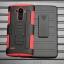(002-169)เคสมือถือ LG G4 เคสนิ่ม+พื้นหลังประกบแบบพลาสติก+มีขาตั้ง+ที่เหน็บเอวสไตล์กันกระแทก thumbnail 3