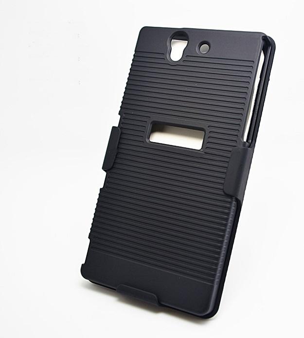 (452-001)เคสมือถือโซนี่ Sony Xperia Z เคสพลาสติกสไตล์เหน็บเอว
