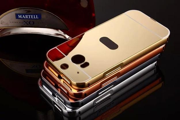 (025-075)เคสมือถือ HTC M8 เคสกรอบโลหะพื้นหลังอะคริลิคแวววับคล้ายกระจกสวยหรู