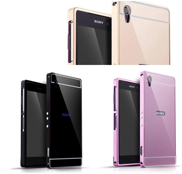 (025-110)เคสมือถือโซนี่ Case Sony Xperia Z2 เคสกรอบบัมเปอร์โลหะฝาหลังอะคริลิคทูโทน
