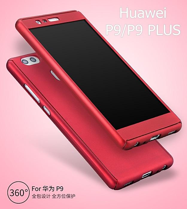 (491-003)เคสมือถือ Case Huawei P9 เคสพลาสติกแบบประกบหน้าจอติดฟิล์มกระจกสไตล์กันกระแทก