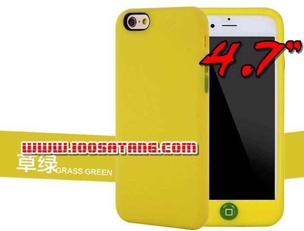 (พร้อมส่ง)เคสมือถือไอโฟน case iphone 6/6S เคสนิ่มสีลูกกวาดแบบคลุมปุ่มโฮม