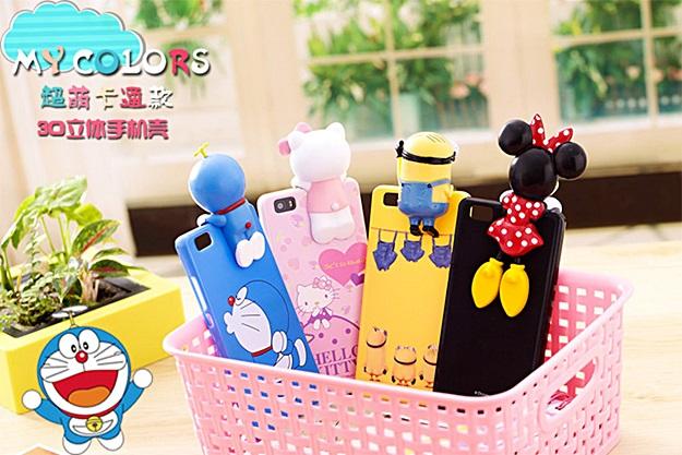 (462-001)เคสมือถือ Case Huawei P8 Lite เคสนิ่ม Hello 3D การ์ตูนน่ารักๆ