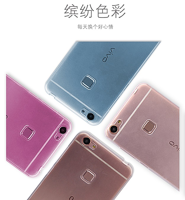 (370-076)เคสมือถือวีโว Vivo X6 เคสนิ่มใสคลุมเครื่องแบบบางกันรอยนิ้วมือ