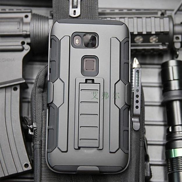 (002-154)เคสมือถือ Case Huawei G7 Plus เคสสไตล์แอดเวนเจอร์กันกระแทกแบบพกพาเหน็บเอว